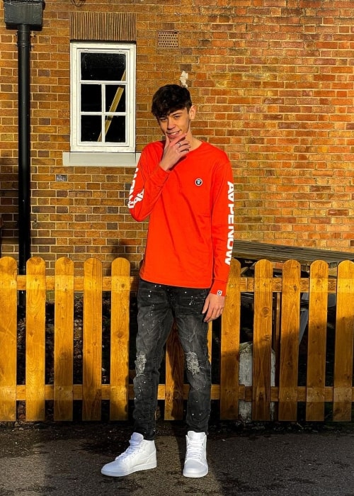 Bailey Nelson as seen in a picture that was taken in Rugby, Warwickshire in December 2020