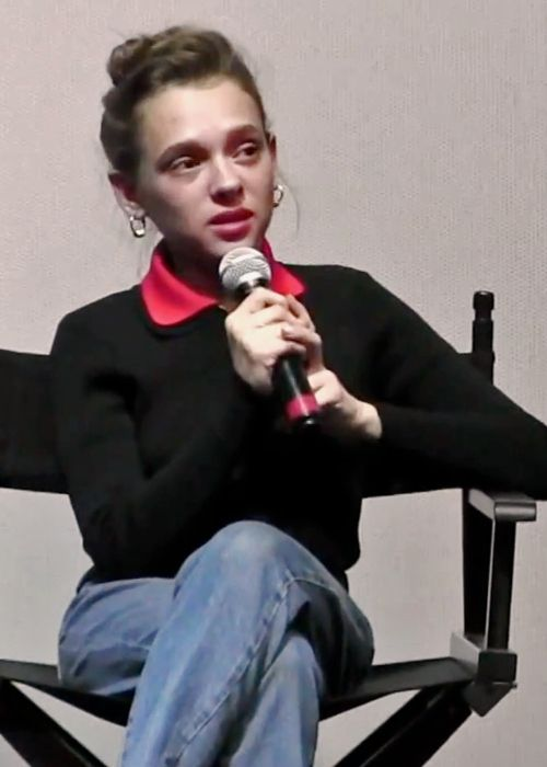 Shira Haas as seen speaking at the Israel Film Festival in 2018