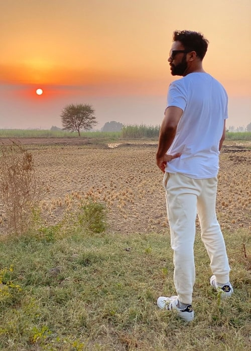 Ali Abbas Zafar as seen while posing for a picture during a sunrise in Punjab, India in November 2020