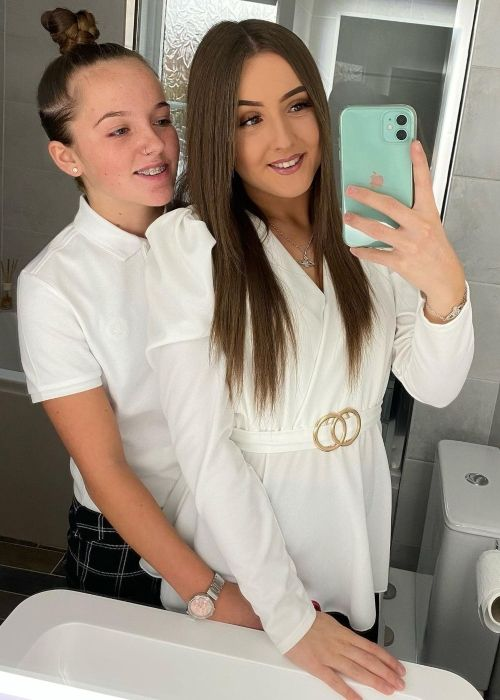 Katylee Bailey and her girlfriend Libby-Mae as seen in a selfie that was taken in October 2020
