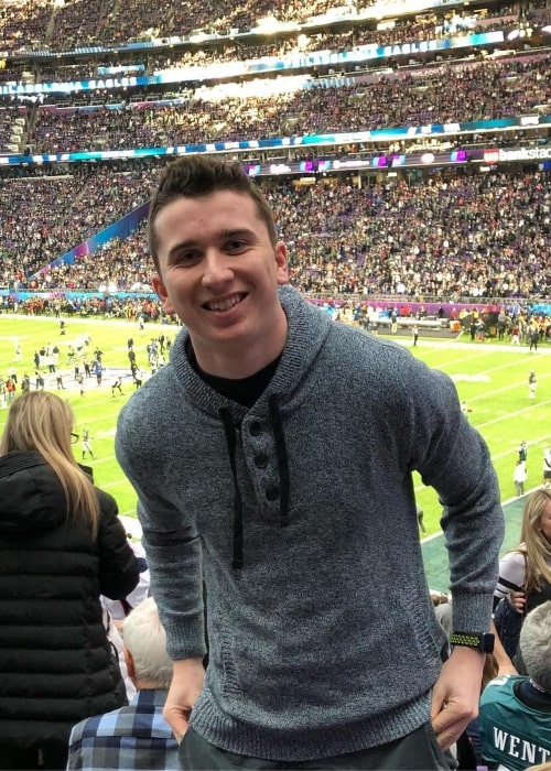 Brett Barrett as seen in a picture that was taken at the Super Bowl LII in February 2018