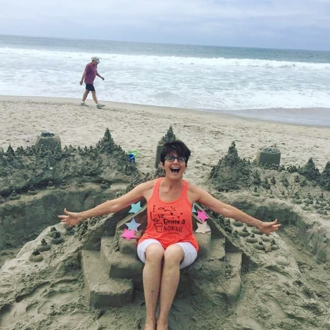 Lucie Arnaz as seen in a picture that was taken in Del Mar, California in August 2019
