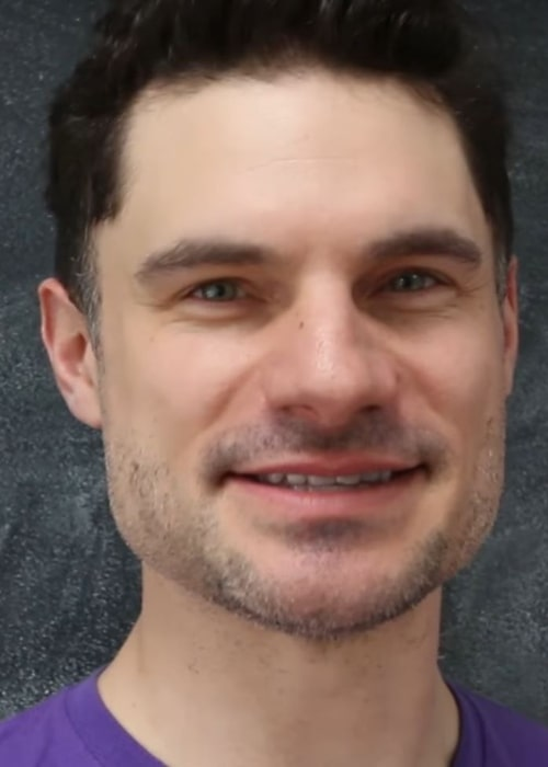 Flula Borg as seen while appearing in the Vlogbrothers video '47 YouTubers Laugh Without Smiling' in April 2016