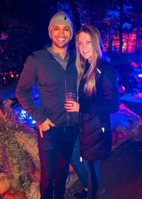 Kyle Kaiser as seen in a picture that was taken with his beau Liz Van Oostenburg in Newfields in October 2020