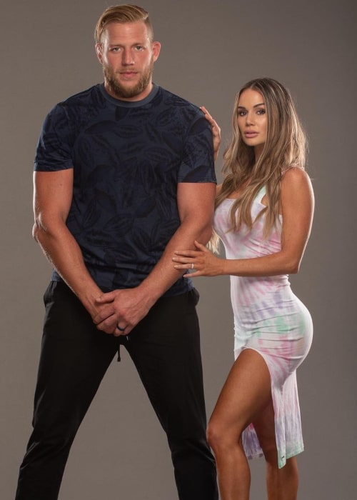 Jake Hager and Catalina White, as seen in July 2020
