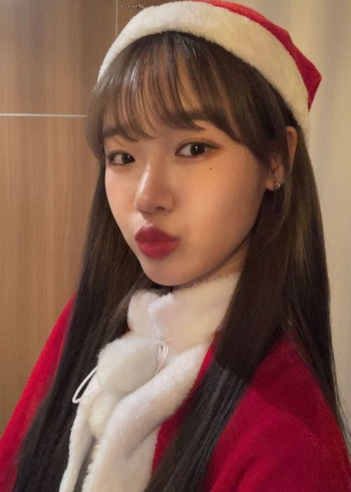 Choi Yoo-jung as seen on Christmas Day in 2020