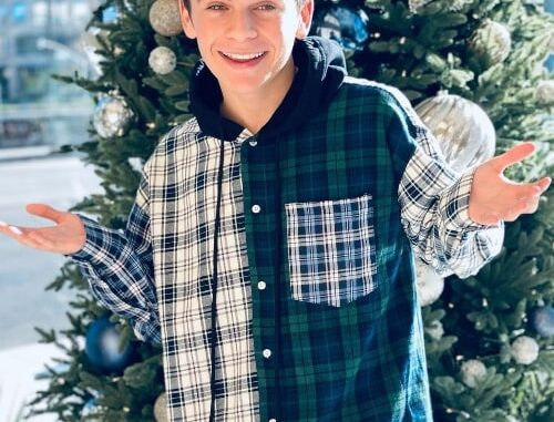 Ayden Mekus as seen while posing for a Christmas picture in December 2020