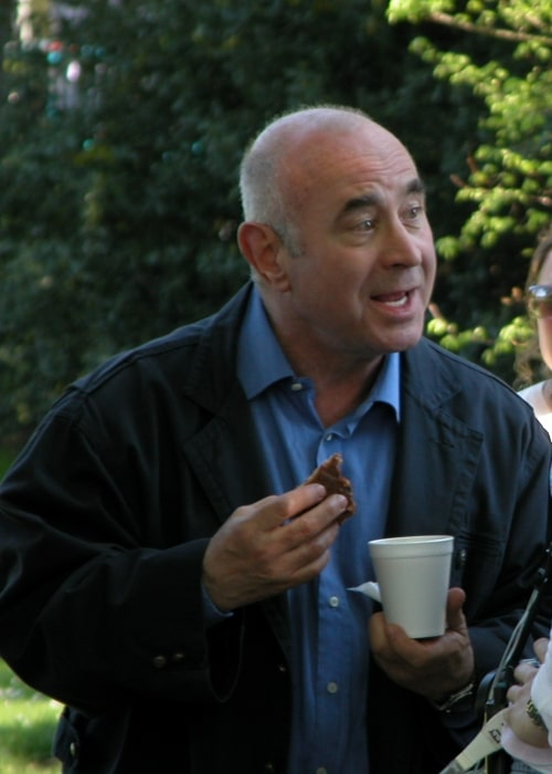 Bob Hoskins on the set of 'Ruby Blue' in February 2008