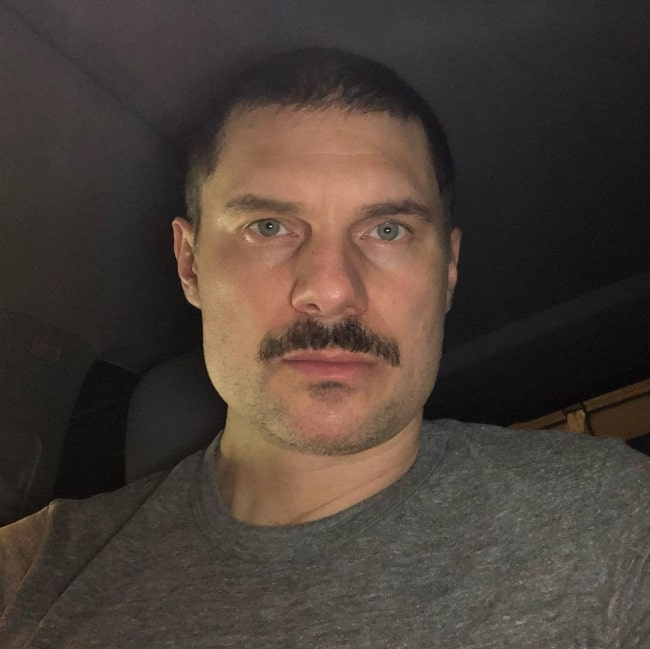 Flula Borg as seen while taking a selfie in July 2020
