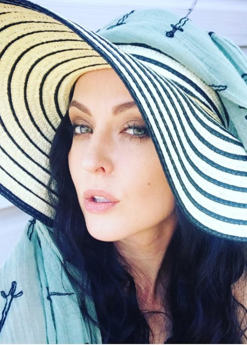 Katharine Isabelle as seen in an Instagram Post in August 2018