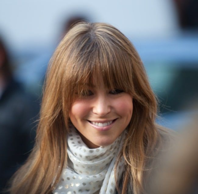 Rachel Stevens pictured with attending London Fashion Week in February 2010