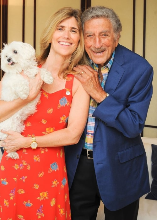 Tony Bennett and Susan Crow, as seen in September 2020