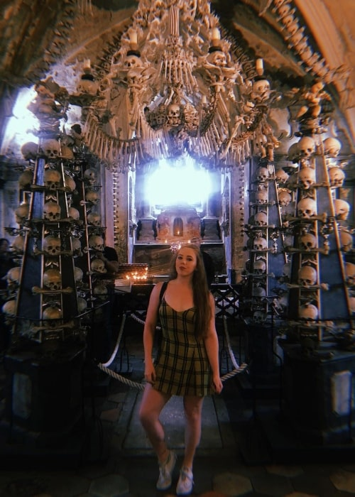 Isla Dawn as seen in a picture that was taken at the Sedlec Ossuary in September 2019