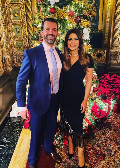 Kimberly Guilfoyle and Donald Trump Jr., as seen in December 2020