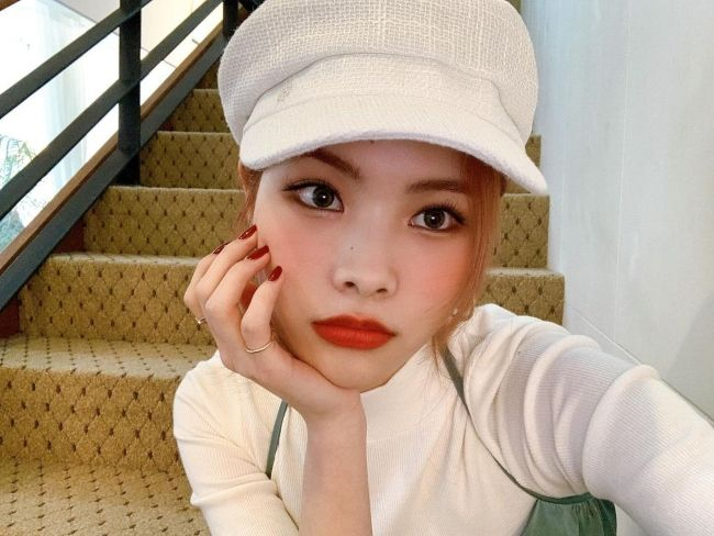 Rina as seen posing for a selfie in 2020