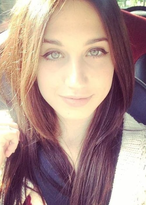 Harriet Cains as seen in a selfie that was taken in the past