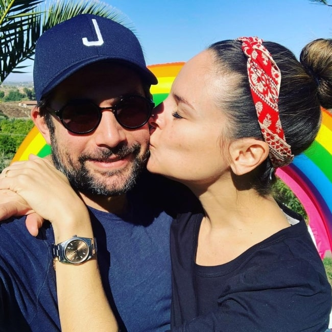 Yara Martinez and her husband Joe Lewis sharing a romantic moment on the day of his birthday in a selfie that was taken in November 2019