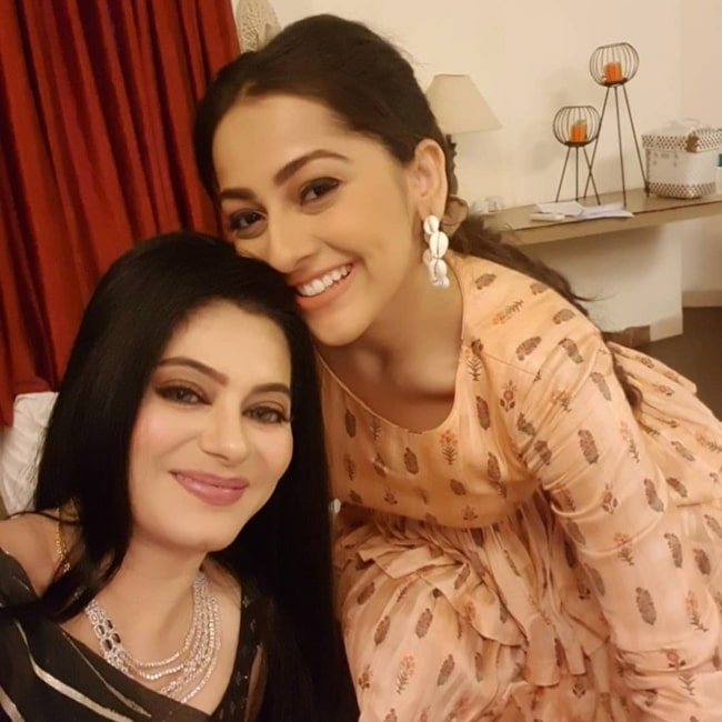 Tassnim Sheikh and actress Anagha Bhosale as seen in a selfie that was taken in June 2021