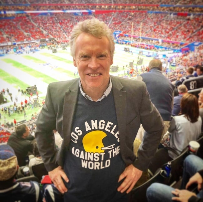 Tate Donovan at the Super Bowl in February 2019