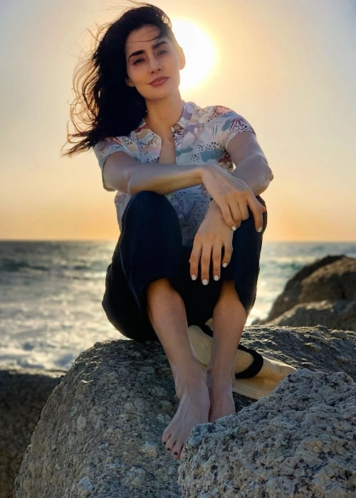 Paola Núñez as seen while posing for the camera at Clifton 4th Beach in South Africa