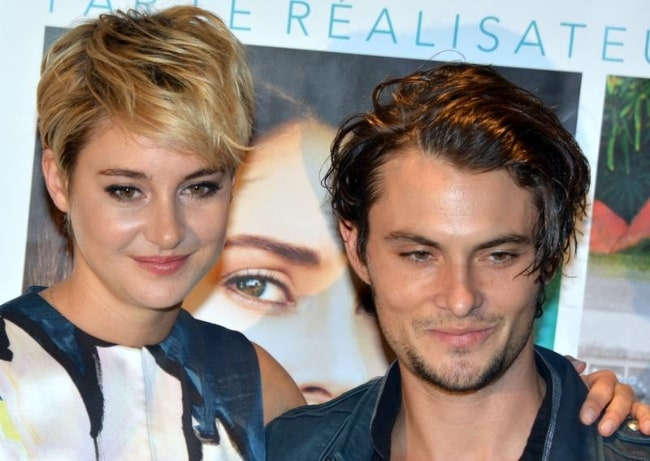 Shiloh Fernandez and Shailene Woodley at the French premiere of 'White Bird' in 2014