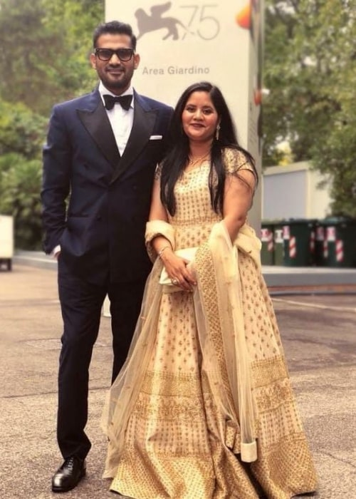 Sohum Shah and wife Amita Shah in an Instagram post in February 2021