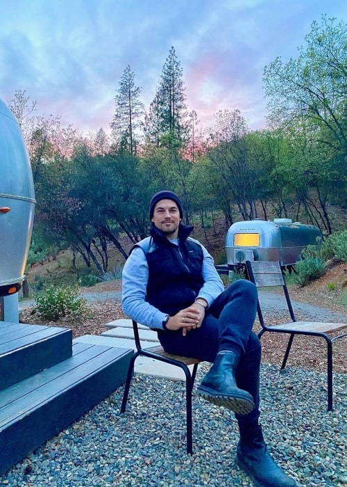 Giacomo Gianniotti as seen in a picture that was taken at the Yosemite National Park in April 2021