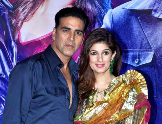 Twinkle Khanna and Akshay Kumar at Ekta Kapoor's party for 'Once Upon a Time In Mumbaai Dobara' in 2014