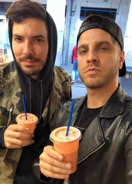 Spencer Charnas (Right) and Ricky Armellino in Poznan, Poland in March 2020