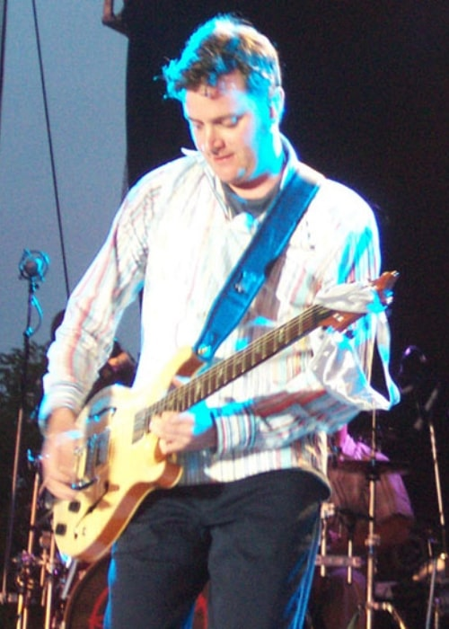 Kevin Hearn performing with Barenaked Ladies in Guelph, Ontario Canada at the Hillside Festival on July 24, 2003