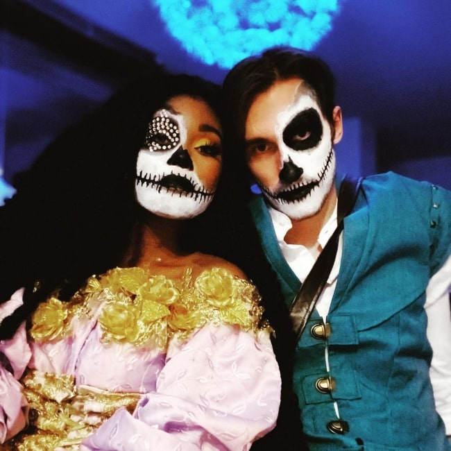 Dylan Is In Trouble as seen in a picture that was taken with singer Misoa in November 2020
