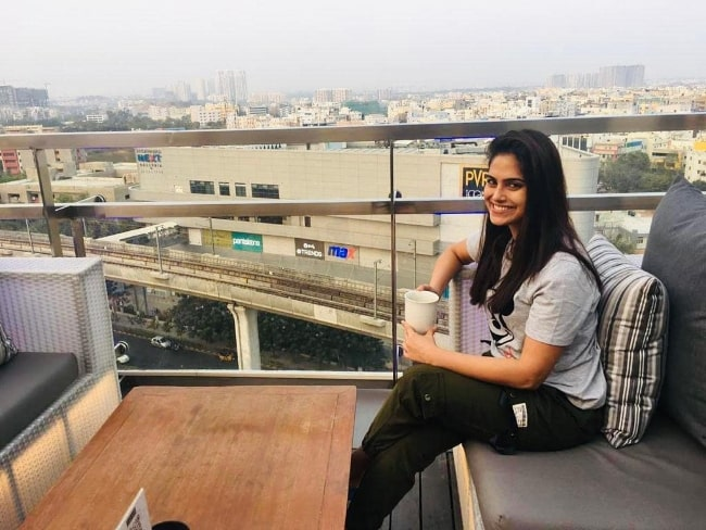 Naina Ganguly smiling for a picture while enjoying a morning in February 2021