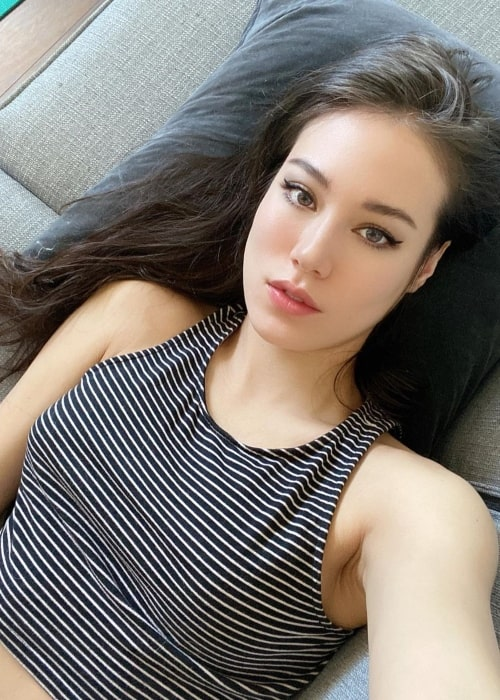 Indiefoxx as seen in a selfie that was taken in Los Angeles, California in April 2020