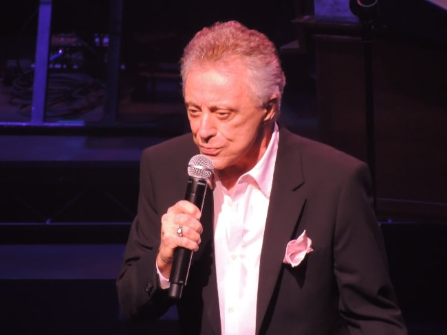 Frankie Valli pictured while performing on Broadway in New York City in 2012