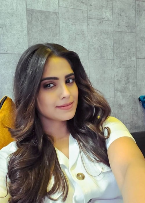 Naina Ganguly as seen while taking a selfie in June 2021