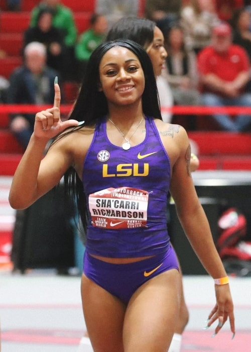 Sha'Carri Richardson as seen in an Instagram Post in January 2019