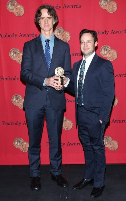 Danny Strong (Right) and Jay Roach pictured at the 2013 Peabody Awards