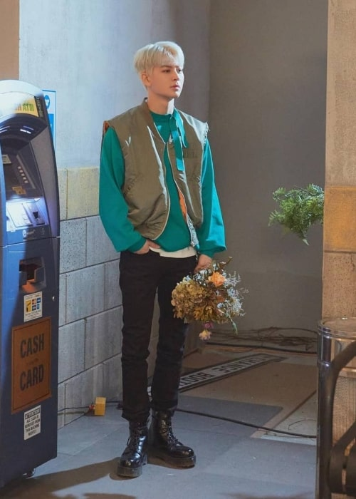 Yunhyeong as seen in a picture that was taken in April 2021