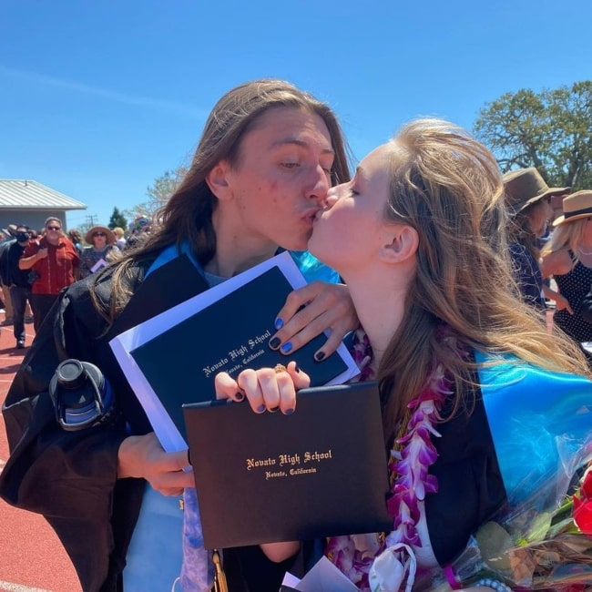 Aidan Zahn as seen in a picture that was taken with her boyfriend Michael Cook in June 2021