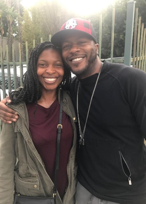 Edwin Hodge smiling for a picture with his sister Briana Hodge