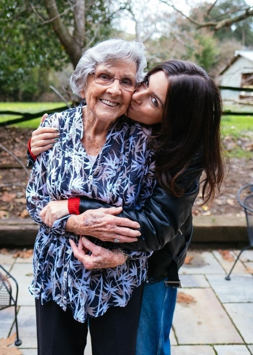 Frankie and her grandmother in December 2019