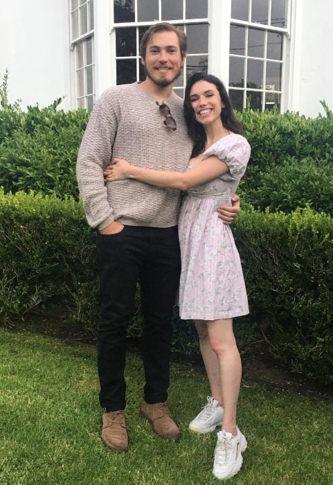 Grace Fulton in July 2020 with her beau celebrating a year of laughing together