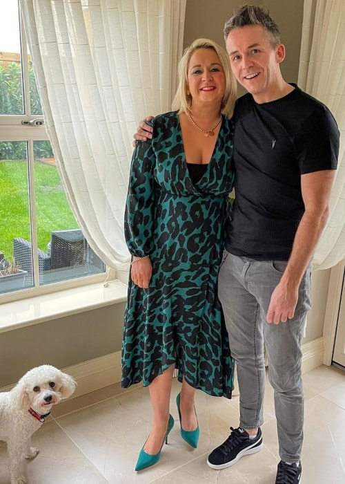 Paul Patrick Beales and his wife Edelle Beales and their dog in a picture that was taken in January 2017