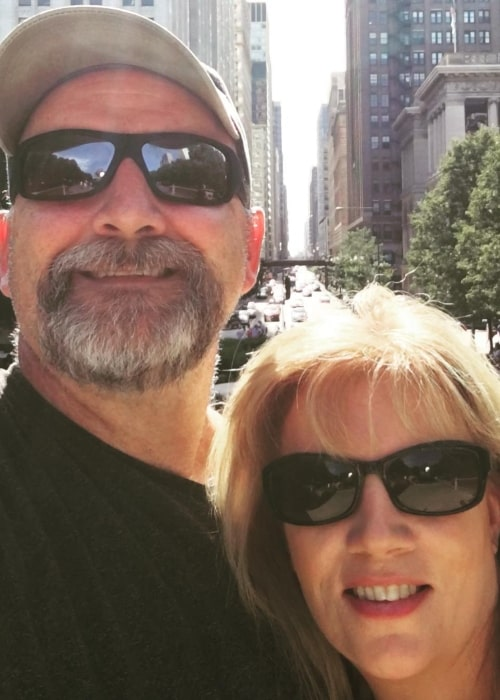 Jim Hollister as seen in a selfie that was taken with his wife Suzanne Hollister in June 2016