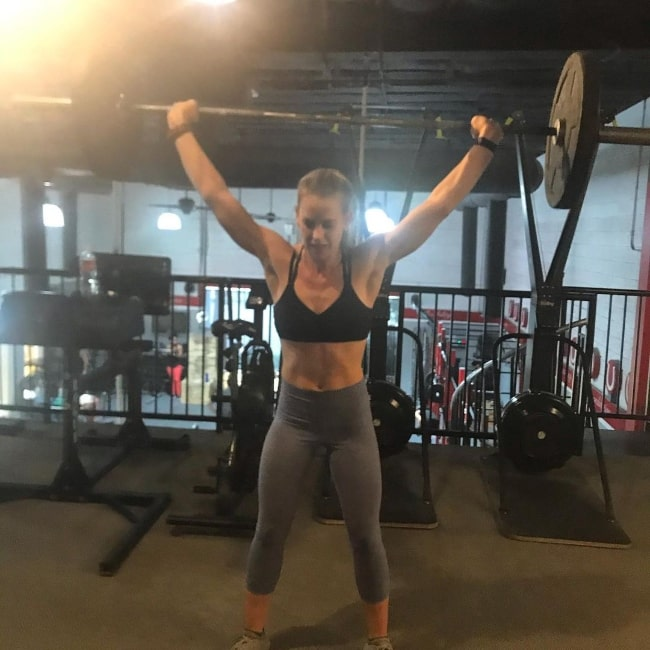 Maddy Curley pictured while working out