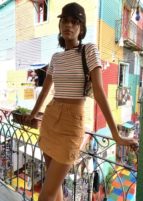 Allana Santos Brito as seen in a picture that was taken in La Boca, Buenos Aires, Argentina in January 2020
