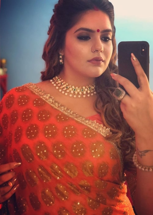 Anjali Anand as seen while taking a mirror selfie