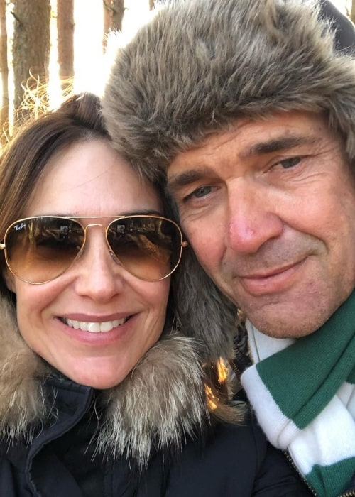 Dougray Scott and Claire Forlani, as seen in December 2018