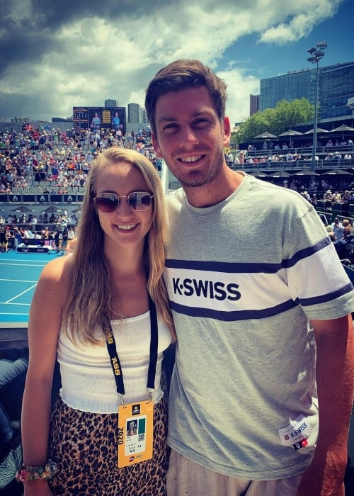 Cameron Norrie and Louise Jacobi, as seen in January 2020