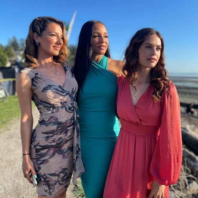 From Left to Right - Vanessa Lengies, Carra Patterson-Prentiss, and Lyndsy Fonseca in Vancouver, British Columbia, Canada